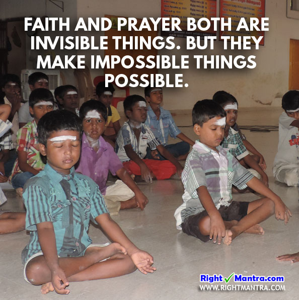 Praying children