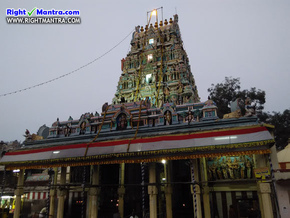 Thiruverkadu Temple Gopuram 2