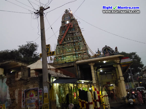 Thiruverkadu Temple Gopuram 3