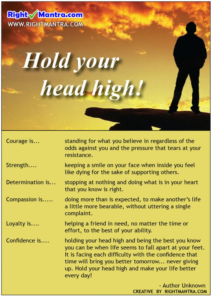 Hold head high
