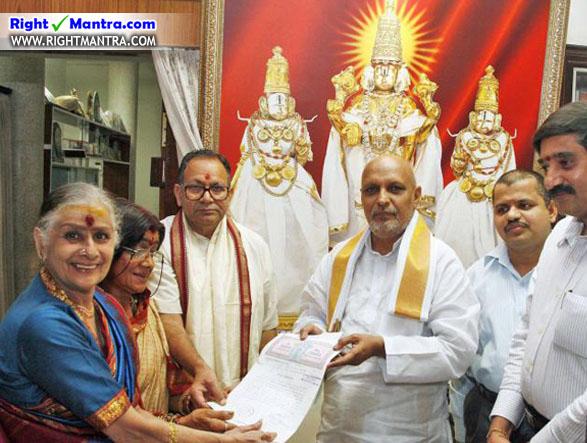 Kanchana gives all property to tirumala
