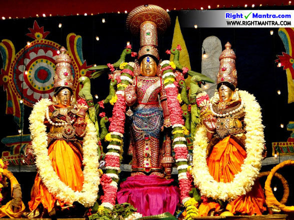 Narayana with sridevi boodevi