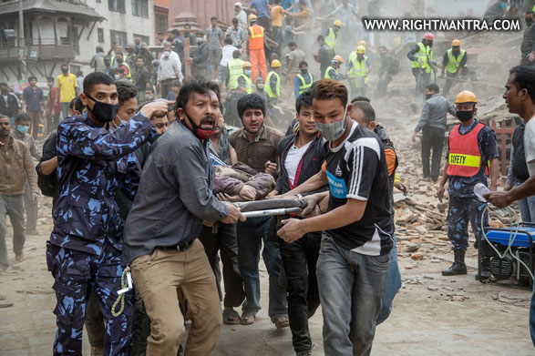 Image: *** BESTPIX *** Kathmandu Struck By Powerful Earthquake