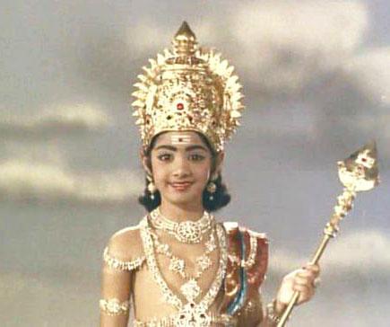 'துணைவன்' படத்தில் பாலமுருகனாக ஸ்ரீதேவி (1968)