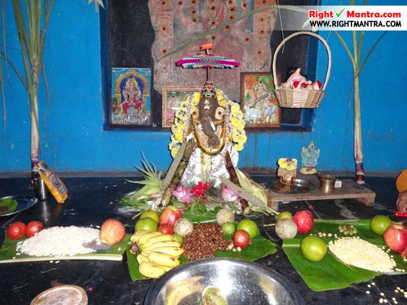 திருவள்ளுவர் குருகுலத்தில் விநாயகர் சதுர்த்தி பூஜை நடைபெற்றபோது...