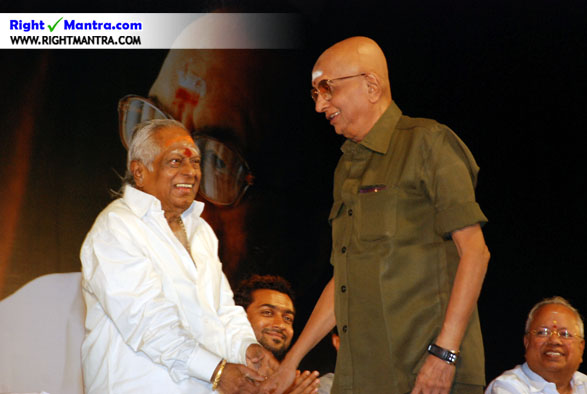 M S Viswanadhan with Cho