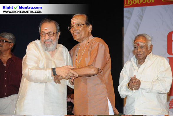 M S Viswanadhan with TMS