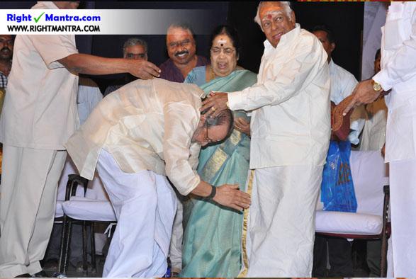 M S Viswanadhan with Vaali