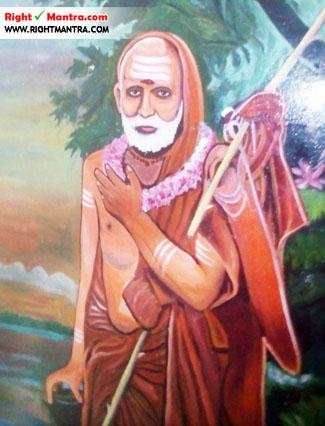 சுருட்டப்பள்ளி கோவிலில் காணப்படும் மகா பெரியவா ஓவியம்...