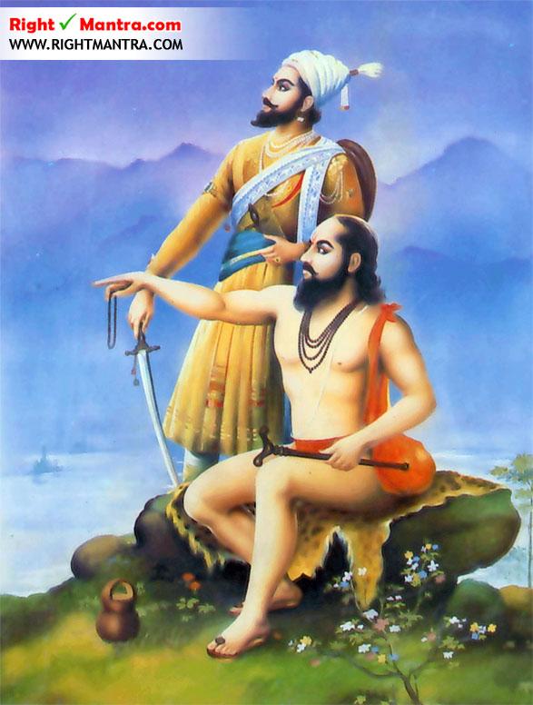 Shivaji and Samartha Ramdas