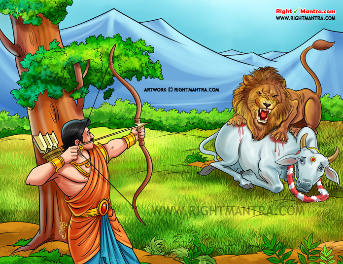 Dhileepan fight with lion
