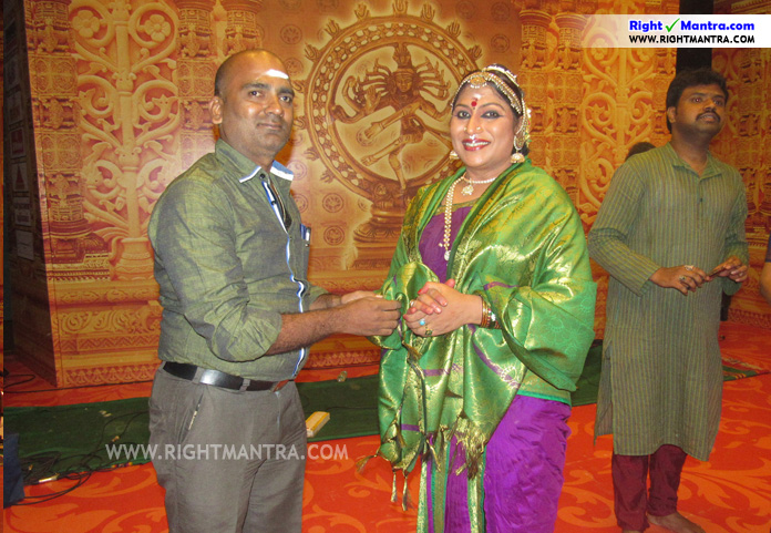 Narthaki Natraj _ Rightmanra Honours2
