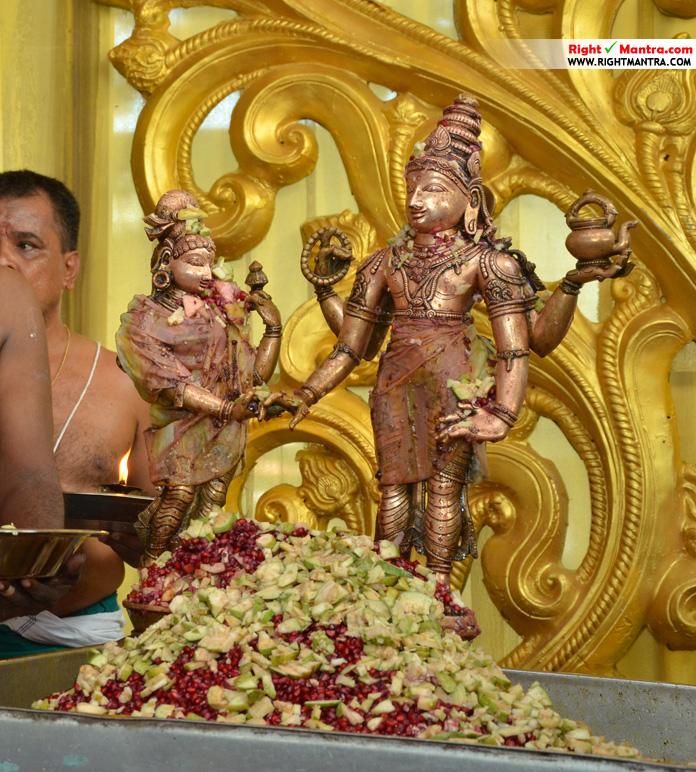 பஞ்சாமிர்த அபிஷேகத்தில் சிறுவாபுரி வள்ளி மணவாளன் பெருமான்!