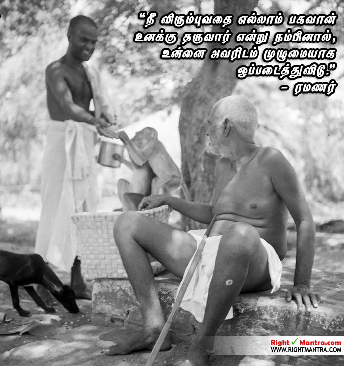 Ramanar with his dogs and monkeys 2